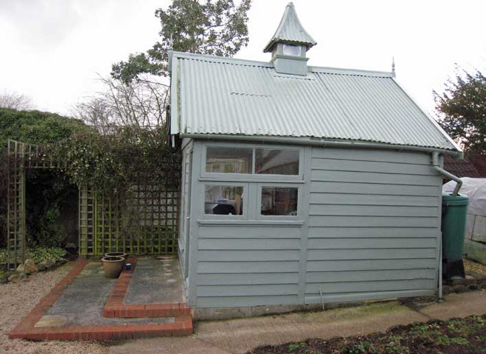 Old Garden Shed Replaced by a Garden Office