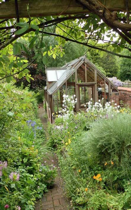 Greenhouse in Victorian garden