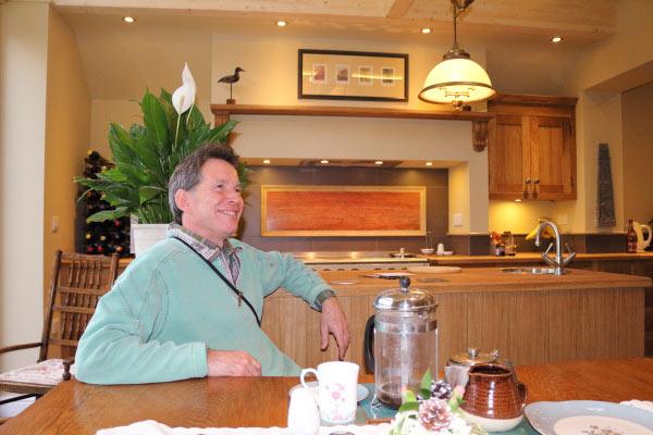 Gordon in kitchen extension